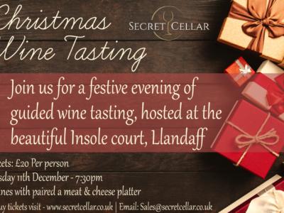 Christmas wine tasting evening