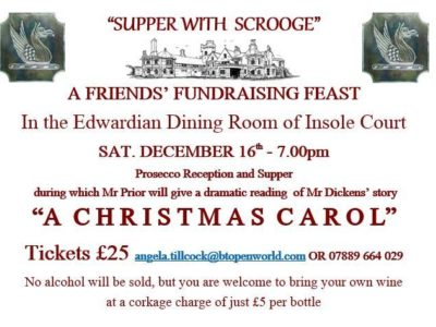 Insole Court Friends: Supper with Scrooge