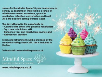'Treading your path' - A day of mindfulness, Mindful Space 10 year Anniversary