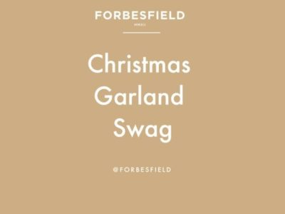 Forbesfield: CHRISTMAS GARLAND SWAG with Forbesfield Flower School