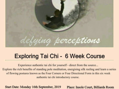 Exploring Tai Chi -  6 Week Course