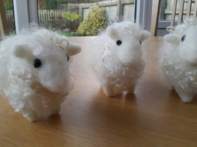 Needle felting your own sheep