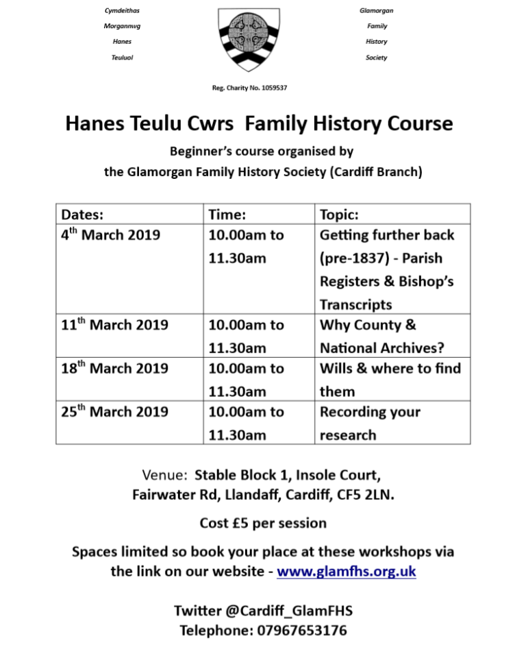 Promo image: Beginners Course on Family History