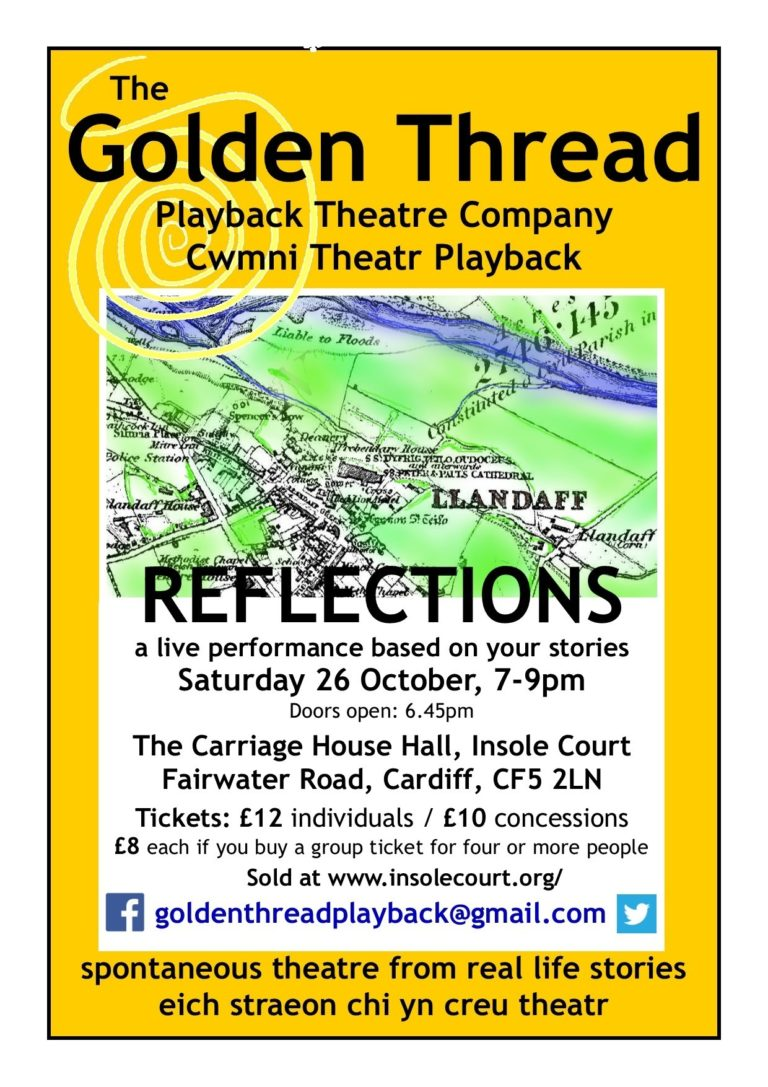 Promo image: Reflections - a performance by The Golden Thread Playback Theatre Company