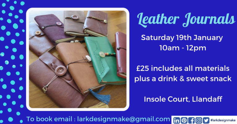 Promo image: Leather Journal Making Workshop