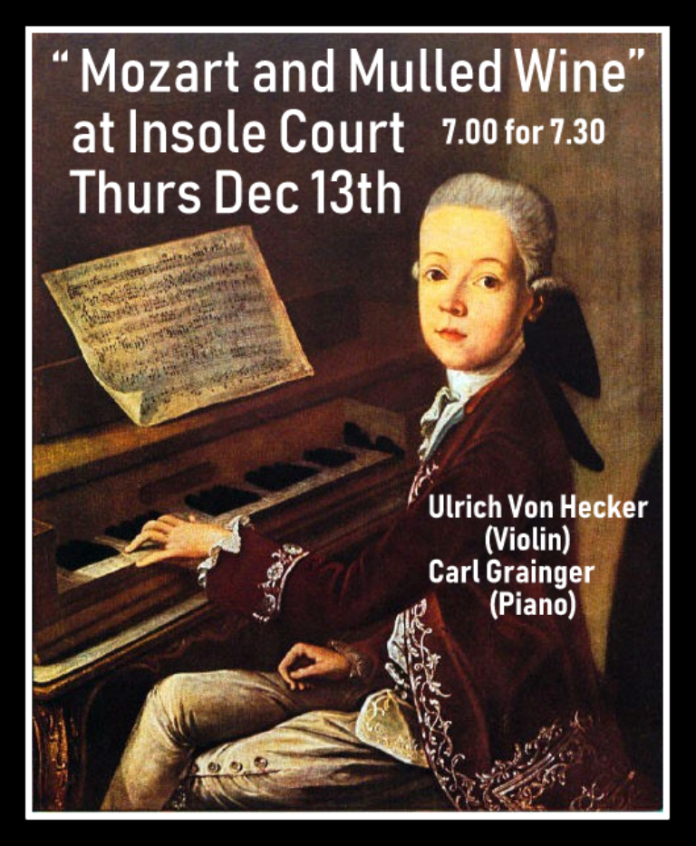 Promo image: Mozart and Mulled Wine at Insole Court