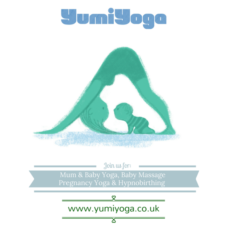 Promo image: Mum and Baby Yoga with Yumi Yoga