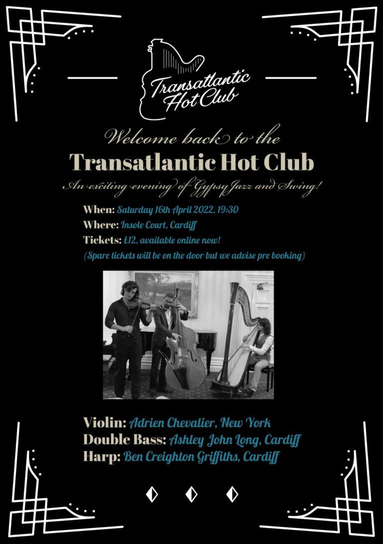 Promo image: Transatlantic Hot Club Live @Insole Court
