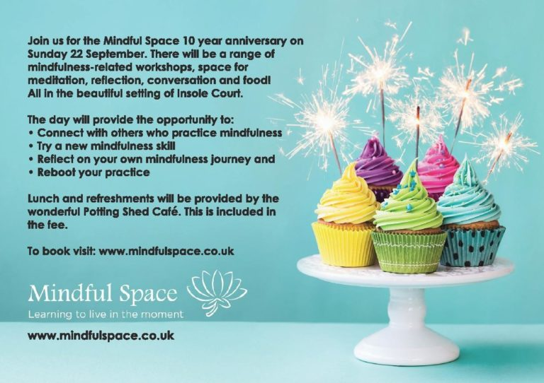 Promo image: 'Treading your path' - A day of mindfulness, Mindful Space 10 year Anniversary