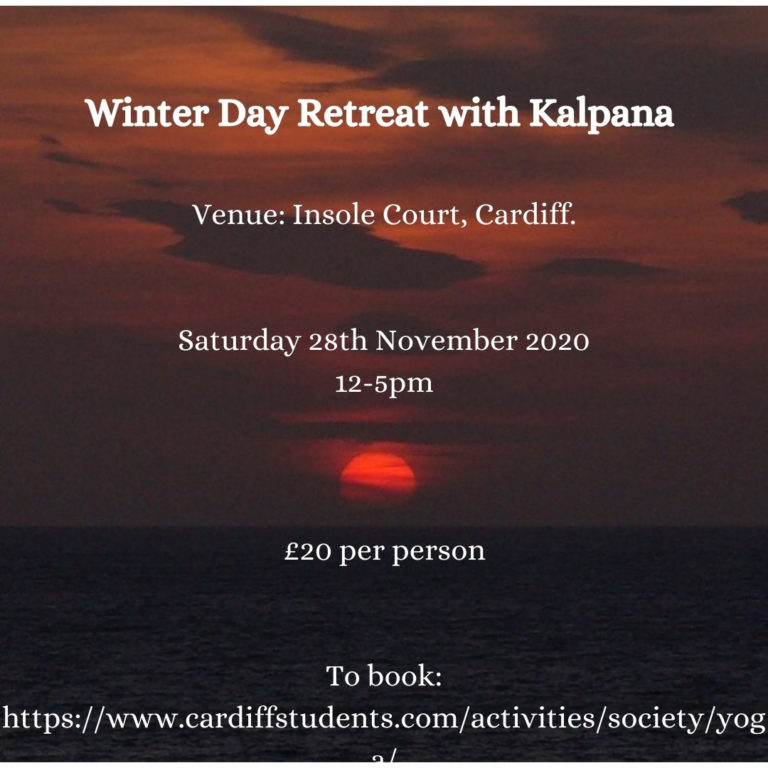 Promo image: Cardiff University Yoga Society Winter Day Retreat 2020