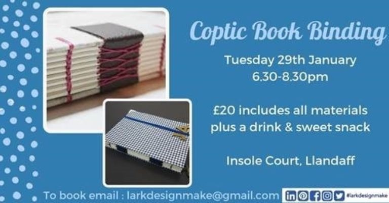 Promo image: Coptic Book Binding Workshop