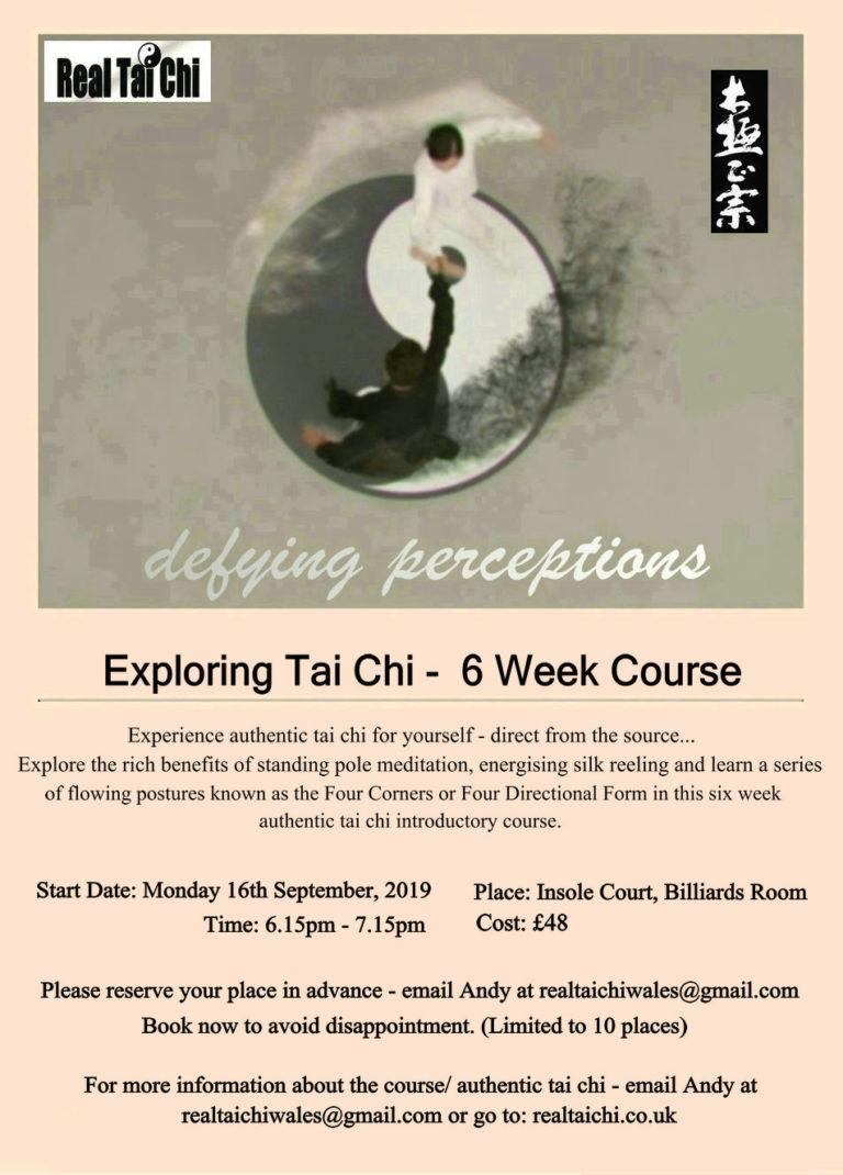 Promo image: Exploring Tai Chi -  6 Week Course