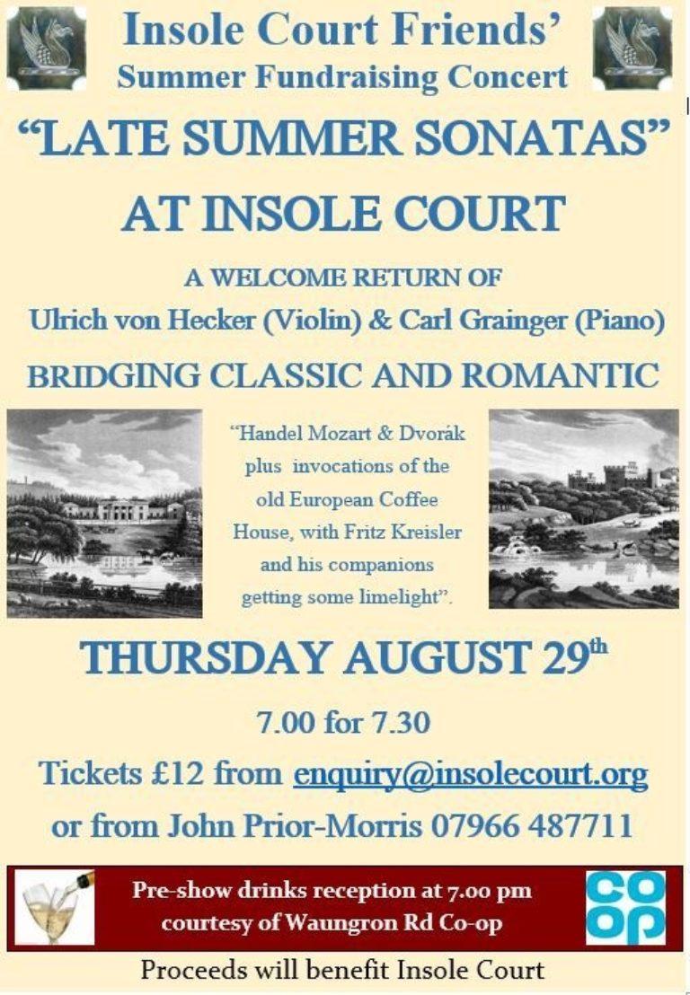 Promo image: Insole Court Friends: 'Late Summer Sonatas'